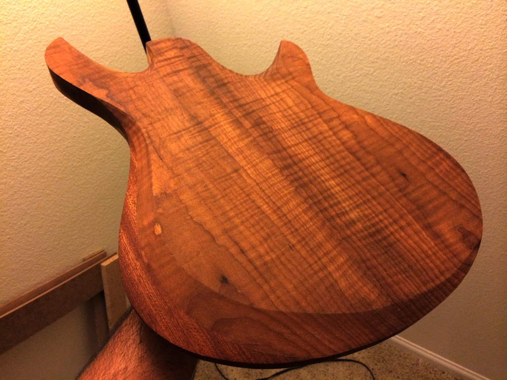 Roasted maple carve finished lutherie…